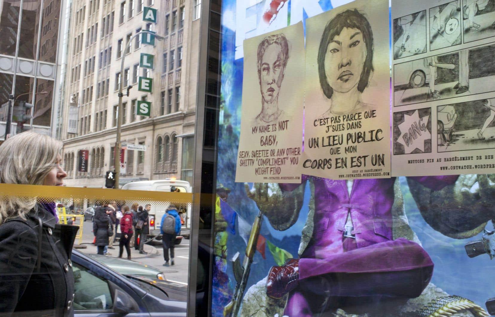 Une campagne d'affichage aux slogans provocateurs a cours à Montréal.