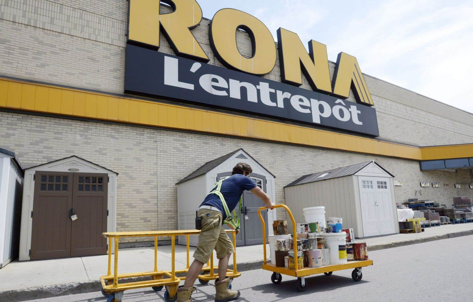 Rona a enregistré un bénéfice net de 38 millions au troisième trimestre.