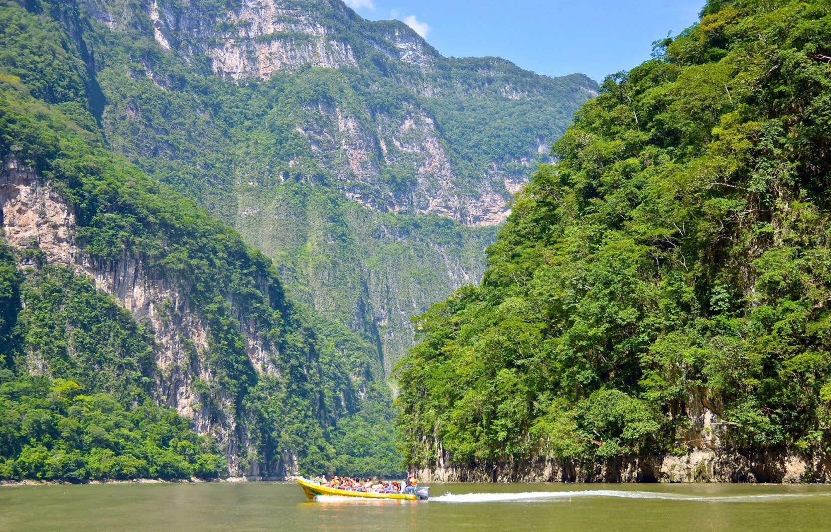 Le majestueux canyon de Sumidero que l'on visite en quelques heures en bateau.