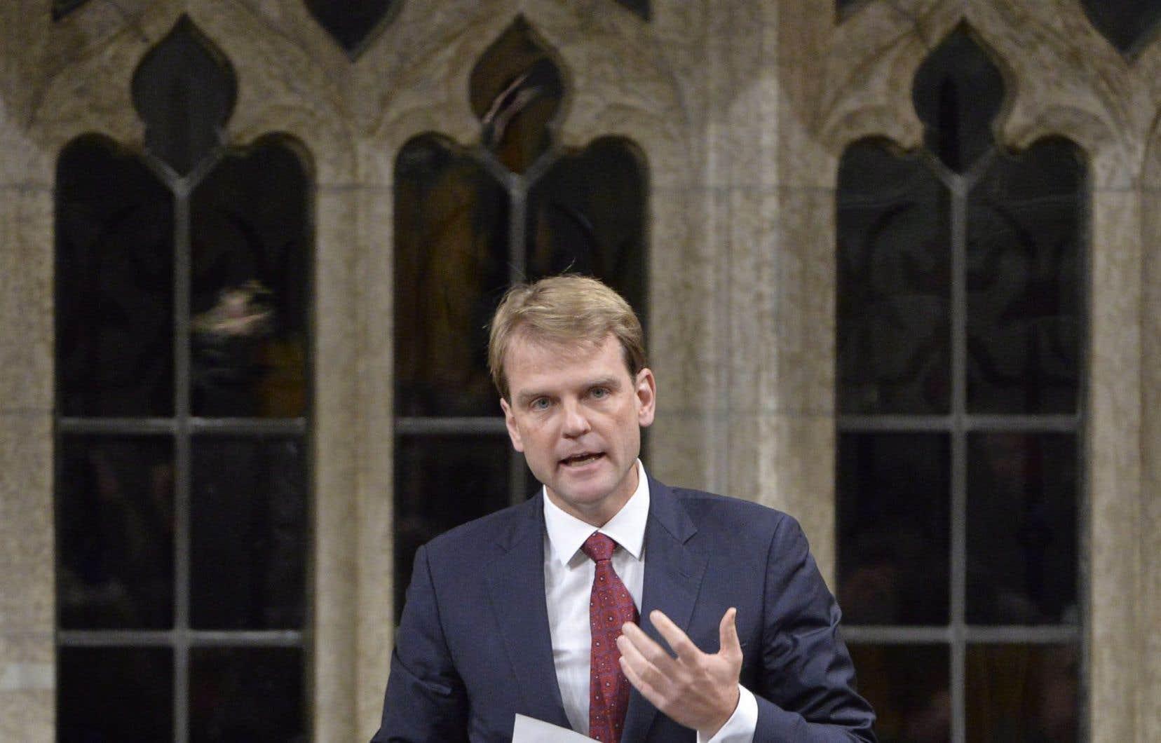 Le ministre fédéral de l'Immigration, Chris Alexander