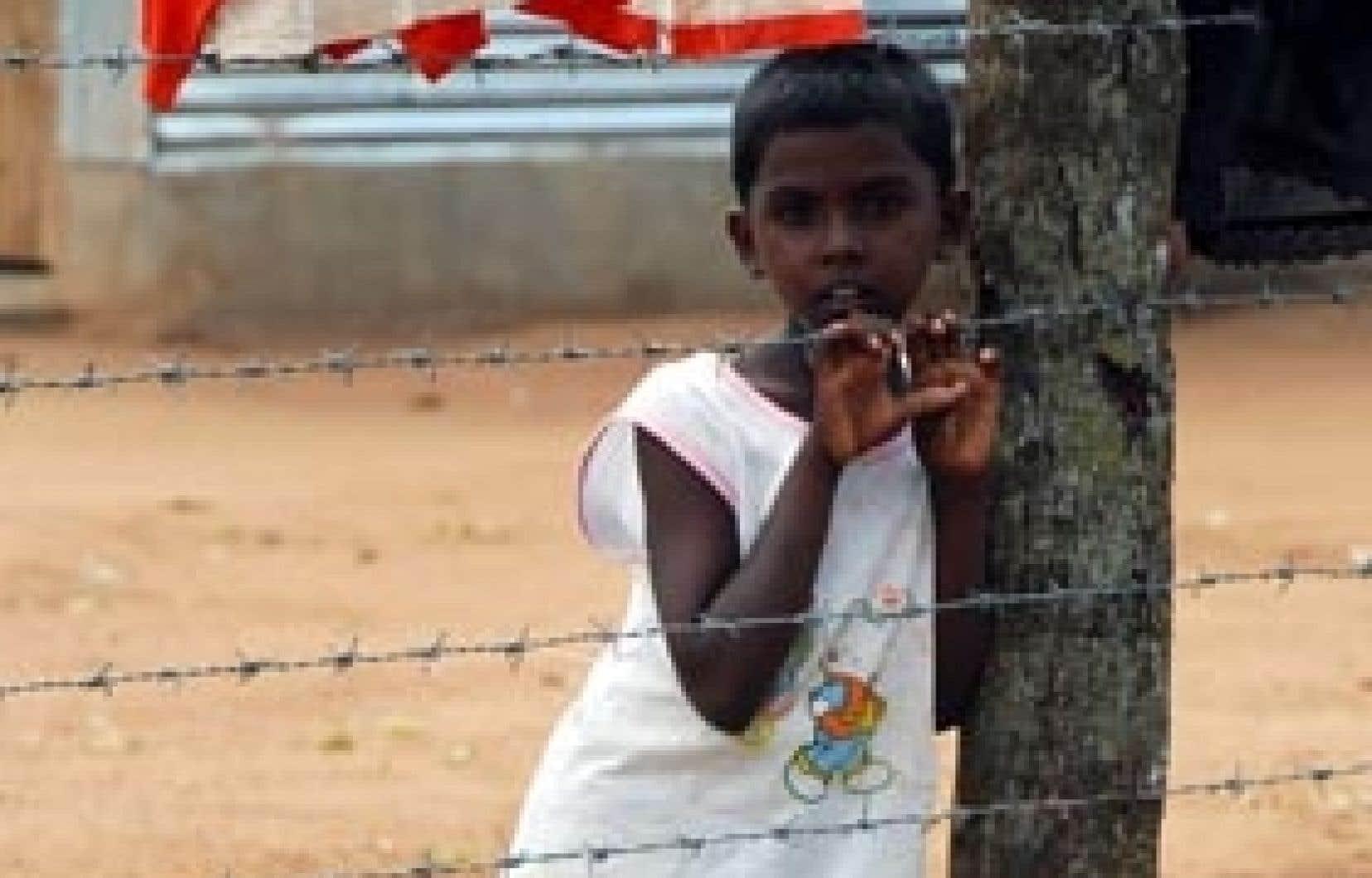 Ce jeune Tamoul fait partie des régfugiés du camp de Menikfam Vanni.