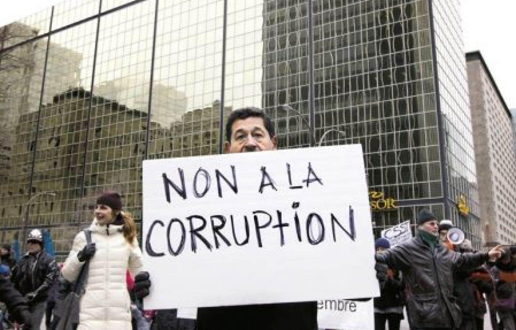 Manifestation en 2012 à l'occasion de la Journée internationale de lutte contre la corruption des Nations unies.