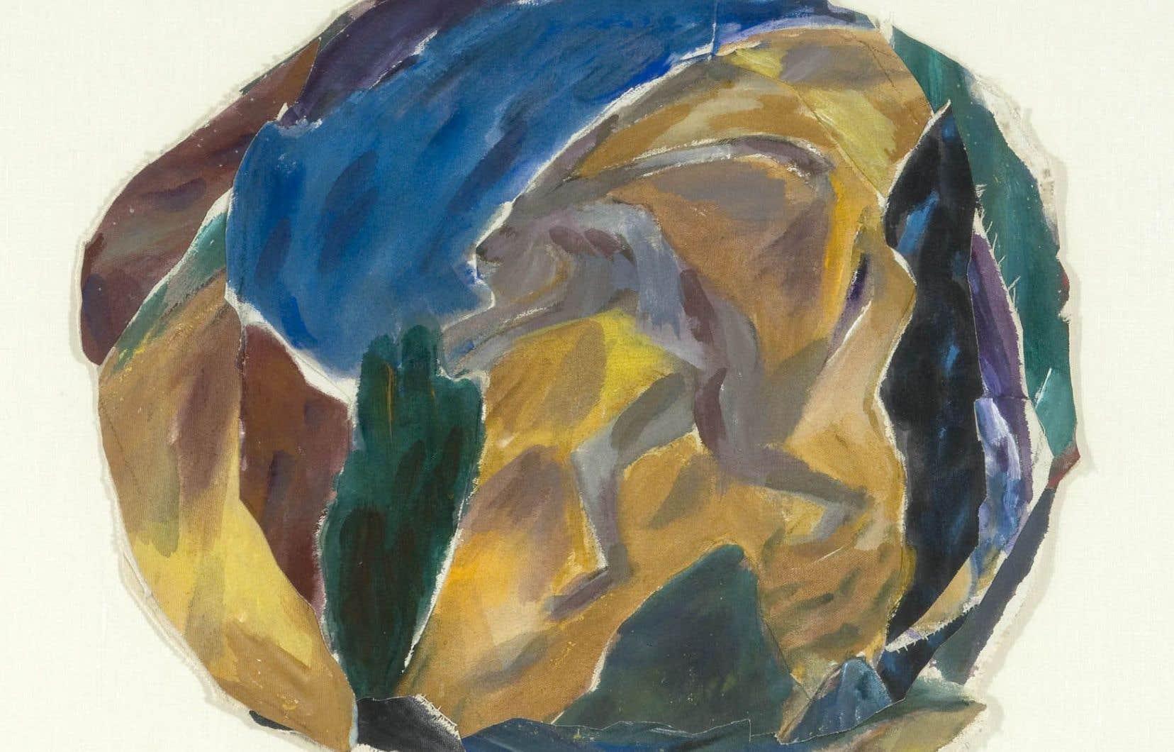 Françoise Sullivan, «Sans titre (Petit tondo)» du «Cycle crétois» (1983 ou 1984)