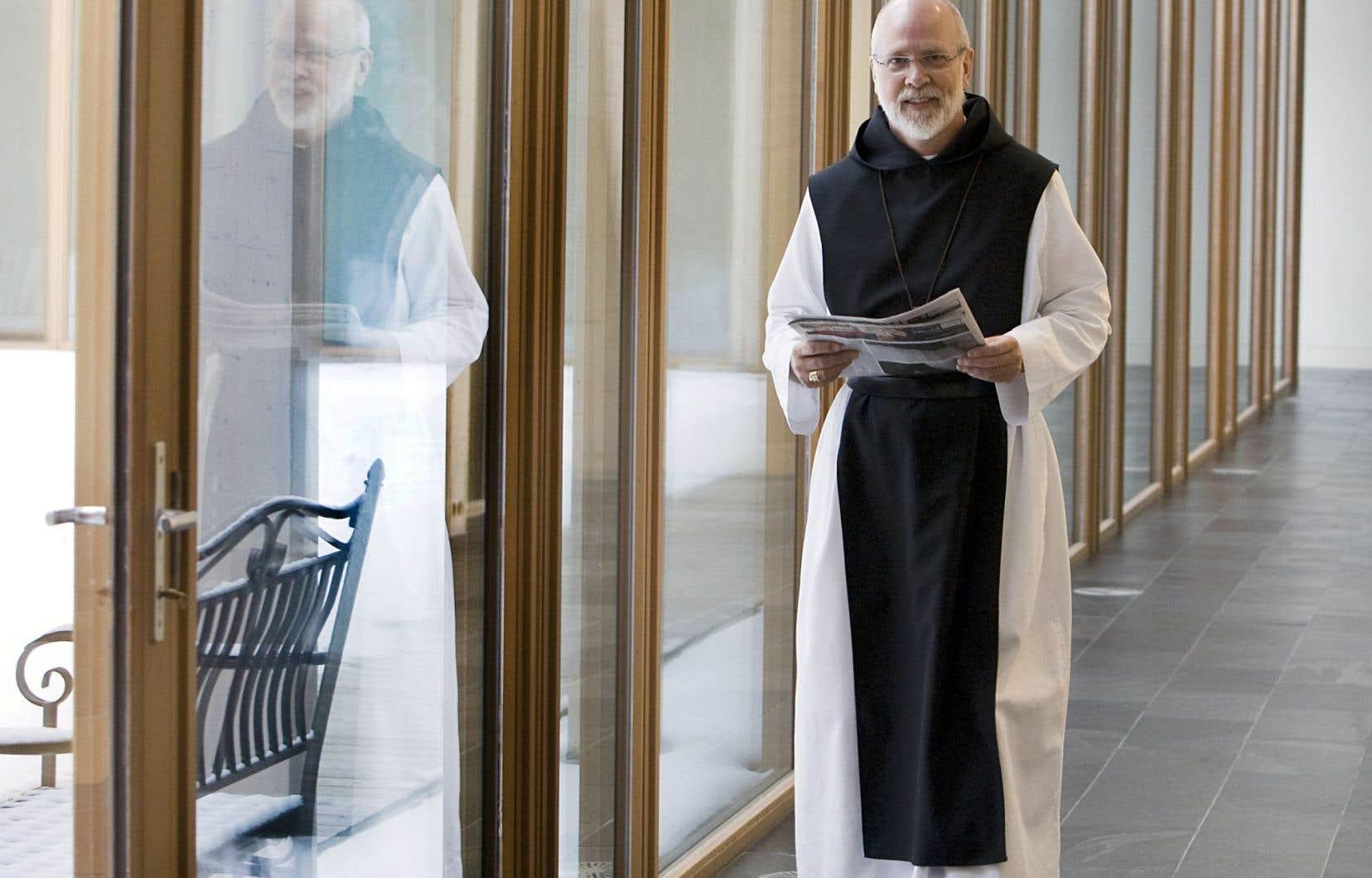 Le père abbé du monastère Val Notre-Dame, André Barbeau