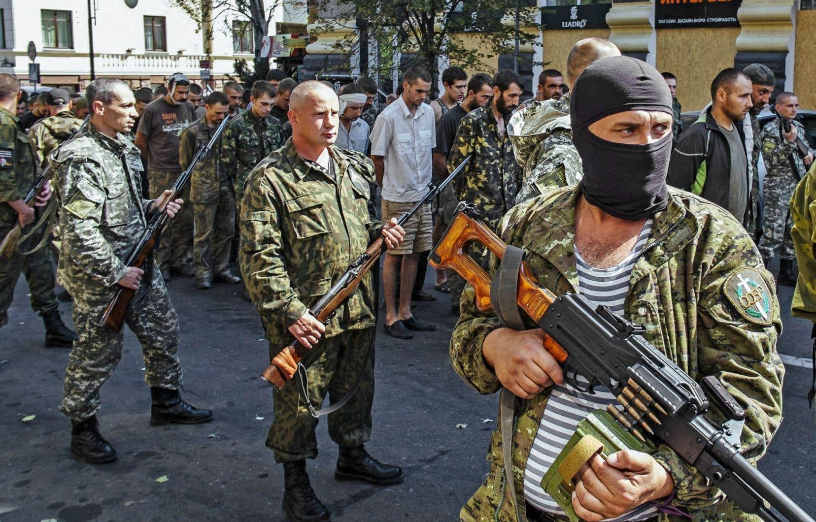 Soldats prorusses à Donetsk en août dernier