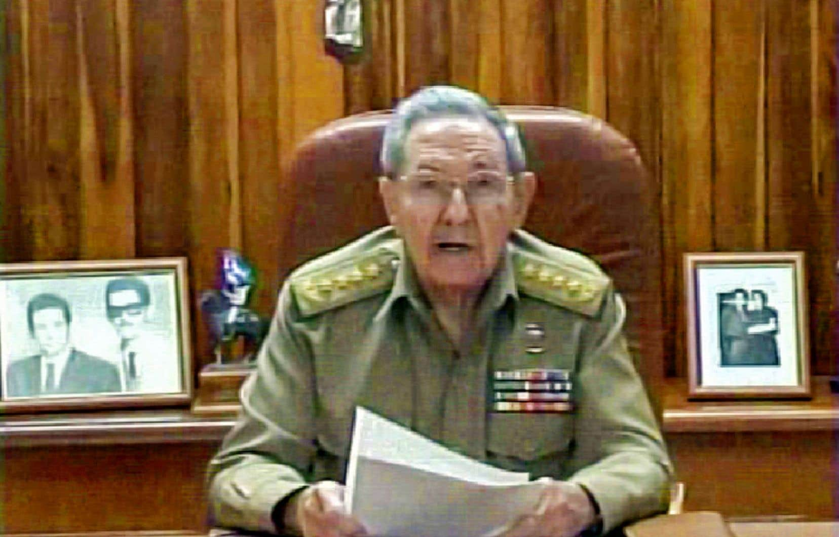 Raúl Castro lors de son allocution télévisée à la nation cette semaine