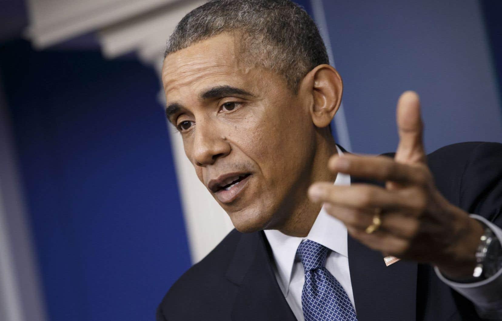 Le président des États-Unis, Barack Obama