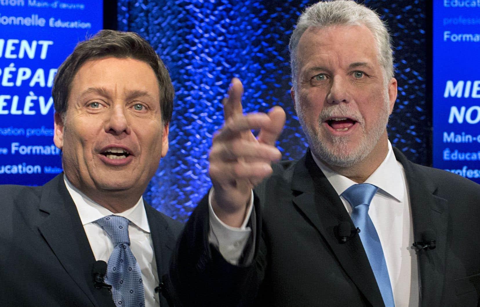 Pierre Moreau et Philippe Couillard