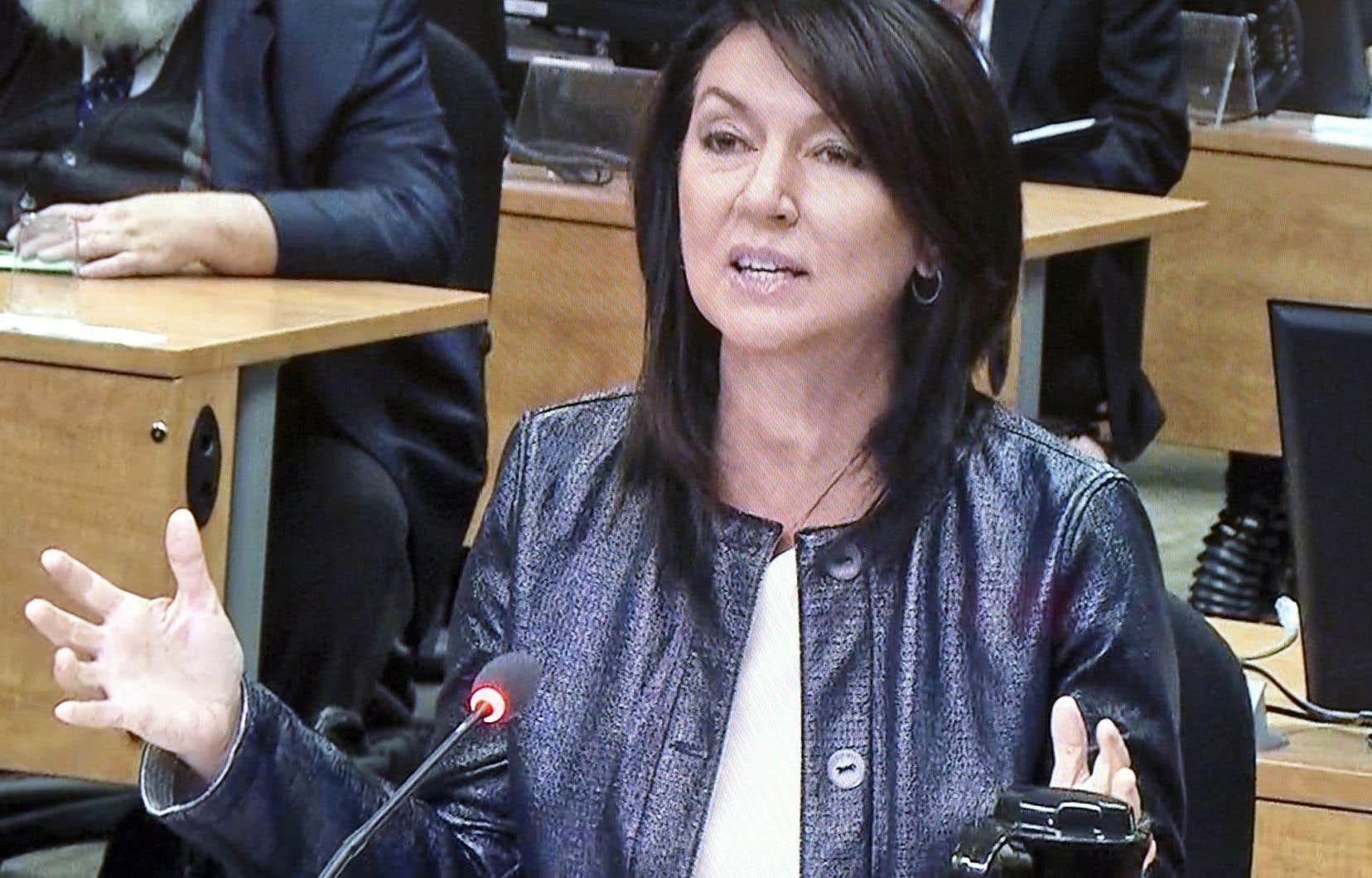 L'ex-ministre Nathalie Normandeau avait dû témoigner à la commission Charbonneau.