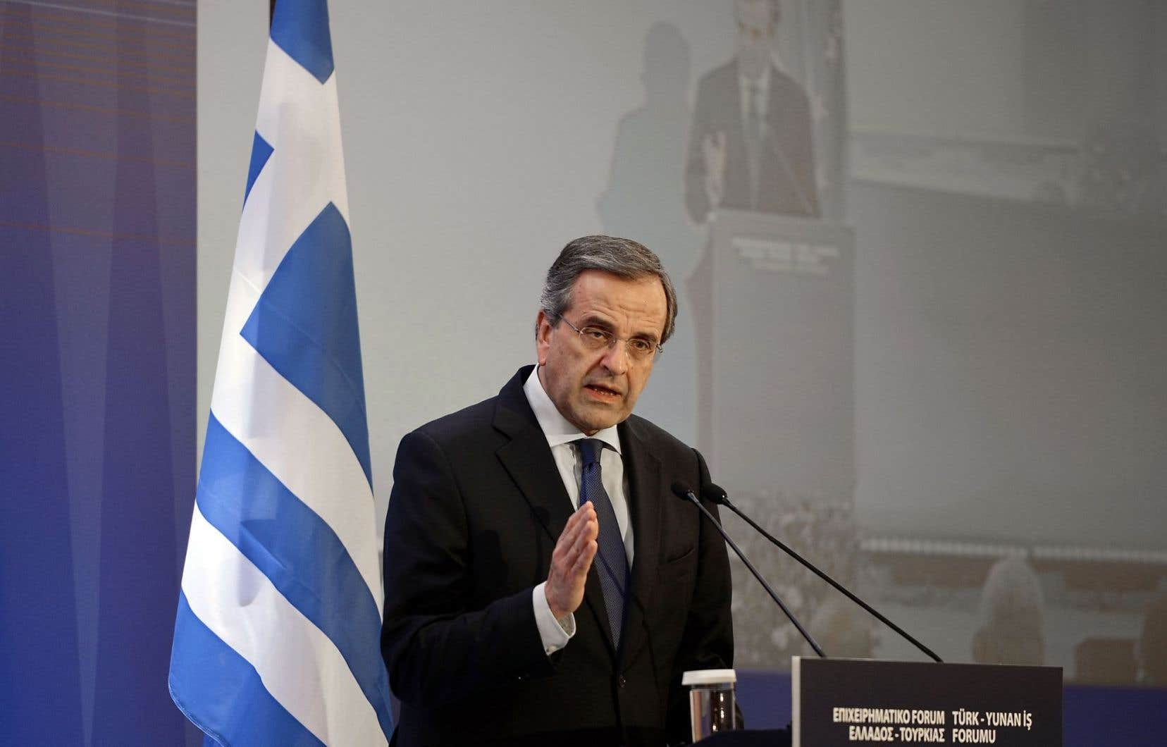 Le premier ministre sortant de la Grèce, Antonis Samaras, alimente lui-même les inquiétudes en disant que «le maintien du pays dans la zone euro» est l'enjeu principal des élections.