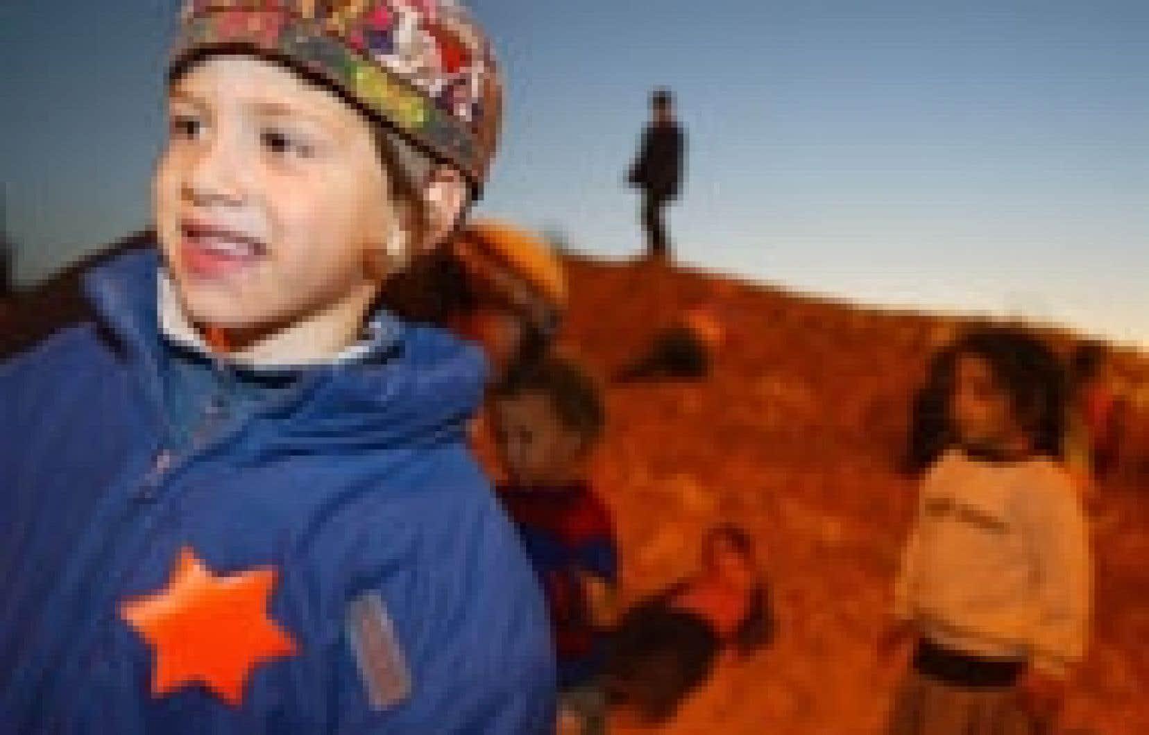 Un jeune colon portait l'étoile, hier, en signe de protestation.