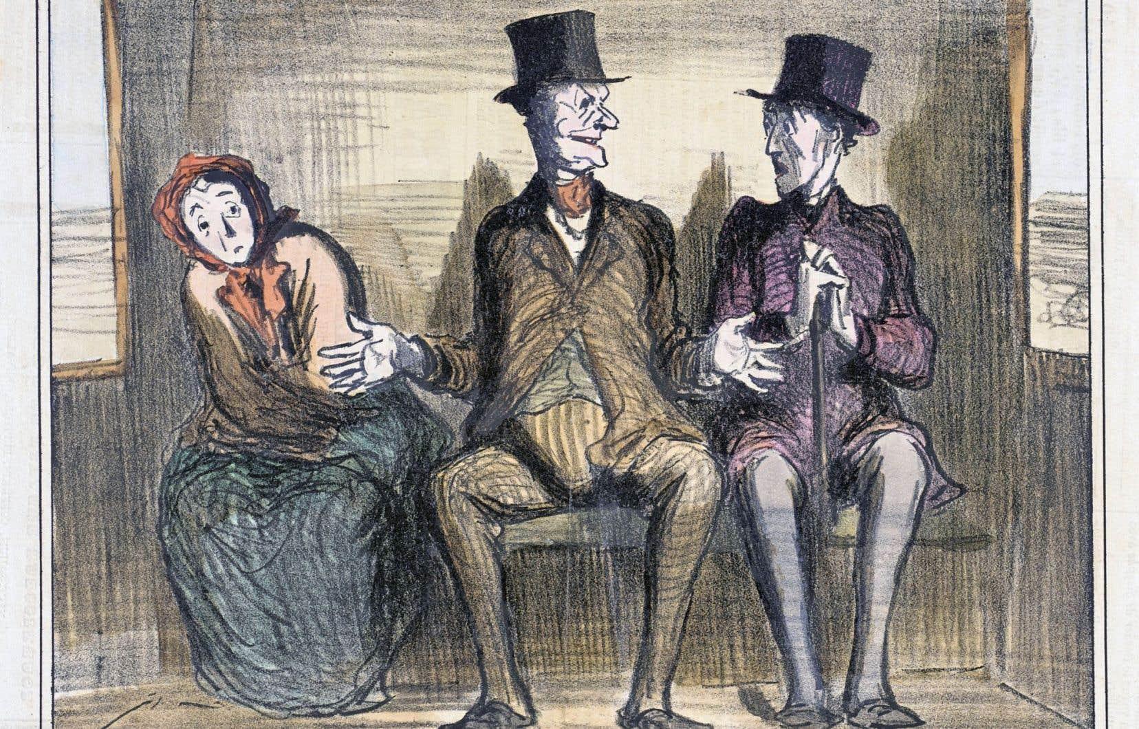 Une caricature d'Honoré Daumier parue dans «Le Charivari» le 19 décembre 1857