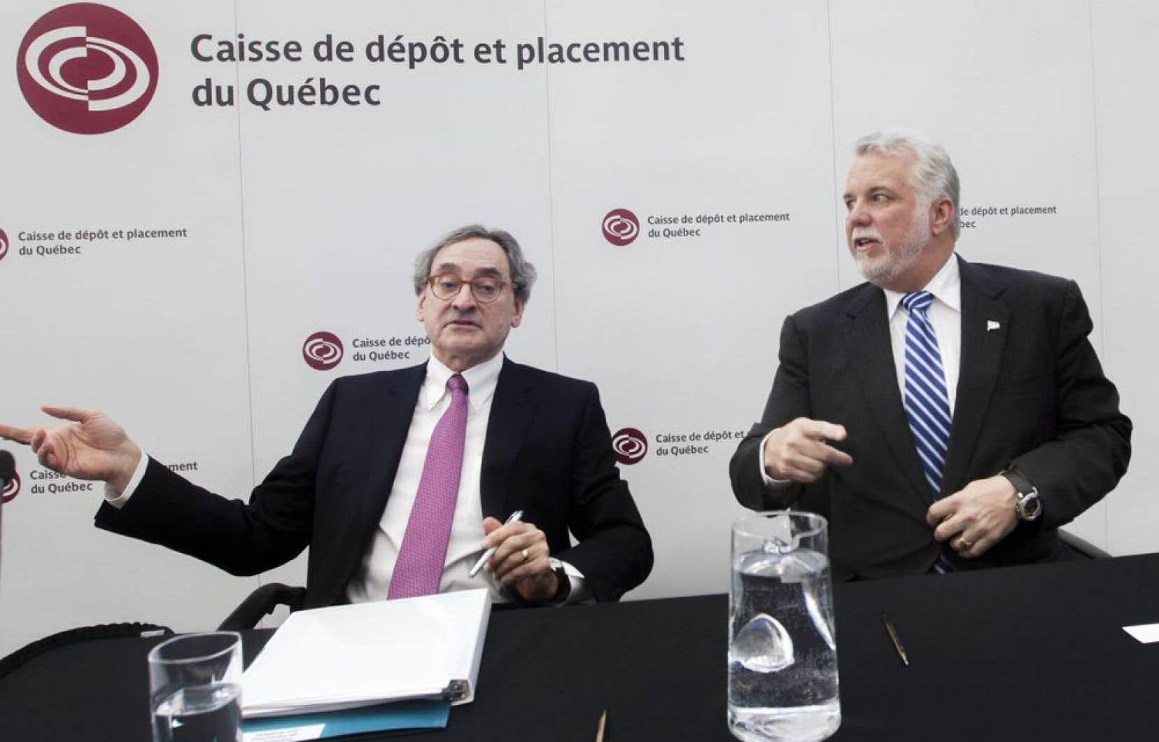 Le président et chef de la direction de la Caisse de dépôt, Michael Sabia, était en compagnie du premier ministre Philippe Couillard pour présenter le nouveau partenariat.