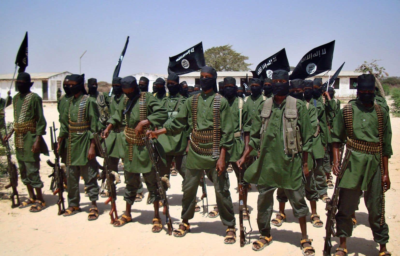 Des combattants d'al-Qaïda au Yémen lors d'un entraînement. AQPA a revendiqué l'attentat contre Charlie Hebdo.