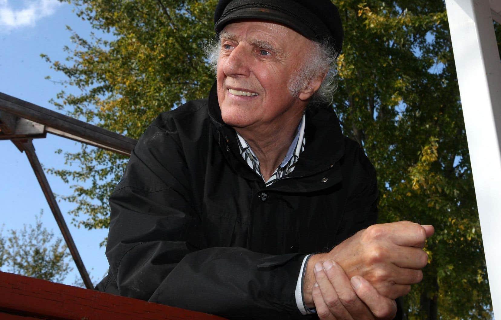 Le poète et auteur-compositeur-interprète Gilles Vigneault
