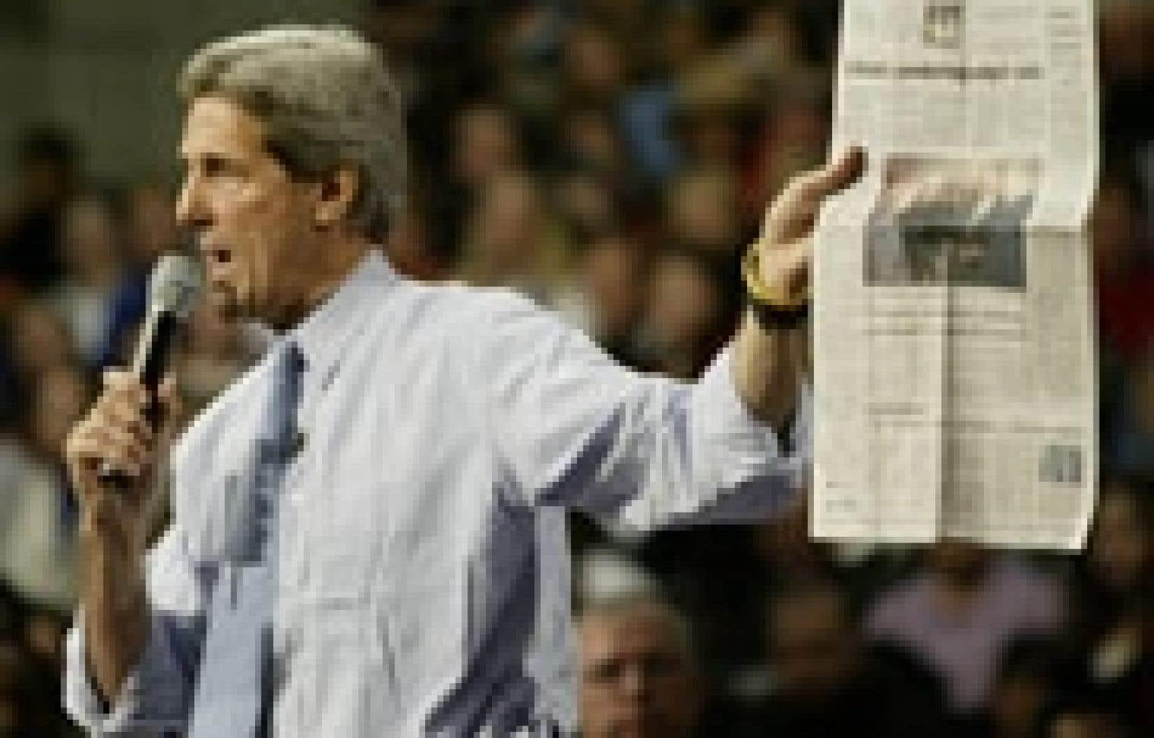 John Kerry a reçu l'appui de nombreux journaux lors de sa campagne électorale.
