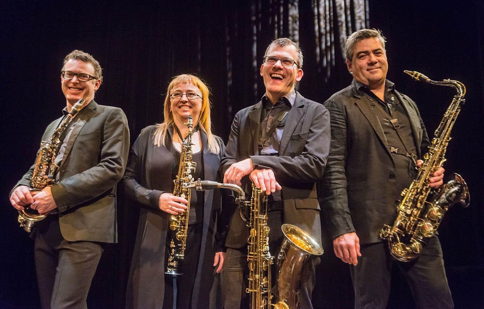 Le quatuor de saxophones Quasar
