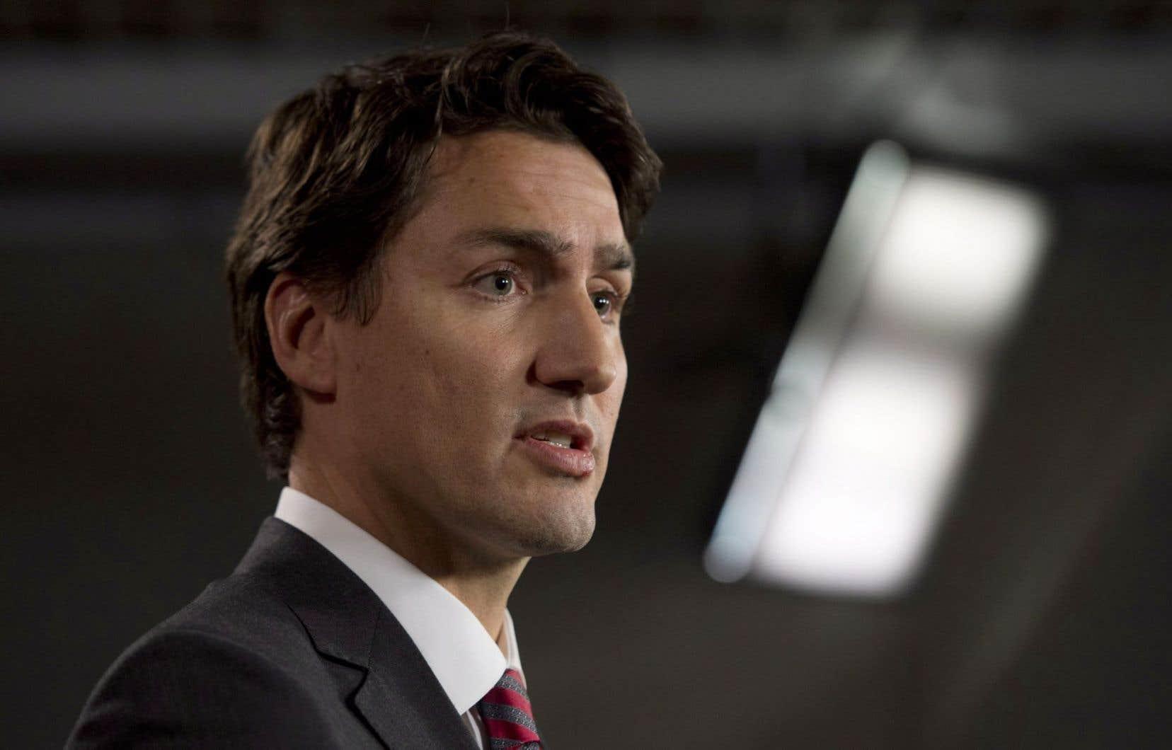 Le chef libéral Justin Trudeau