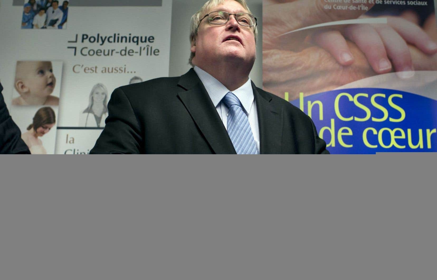 Le ministre de la Santé, Gaétan Barrette