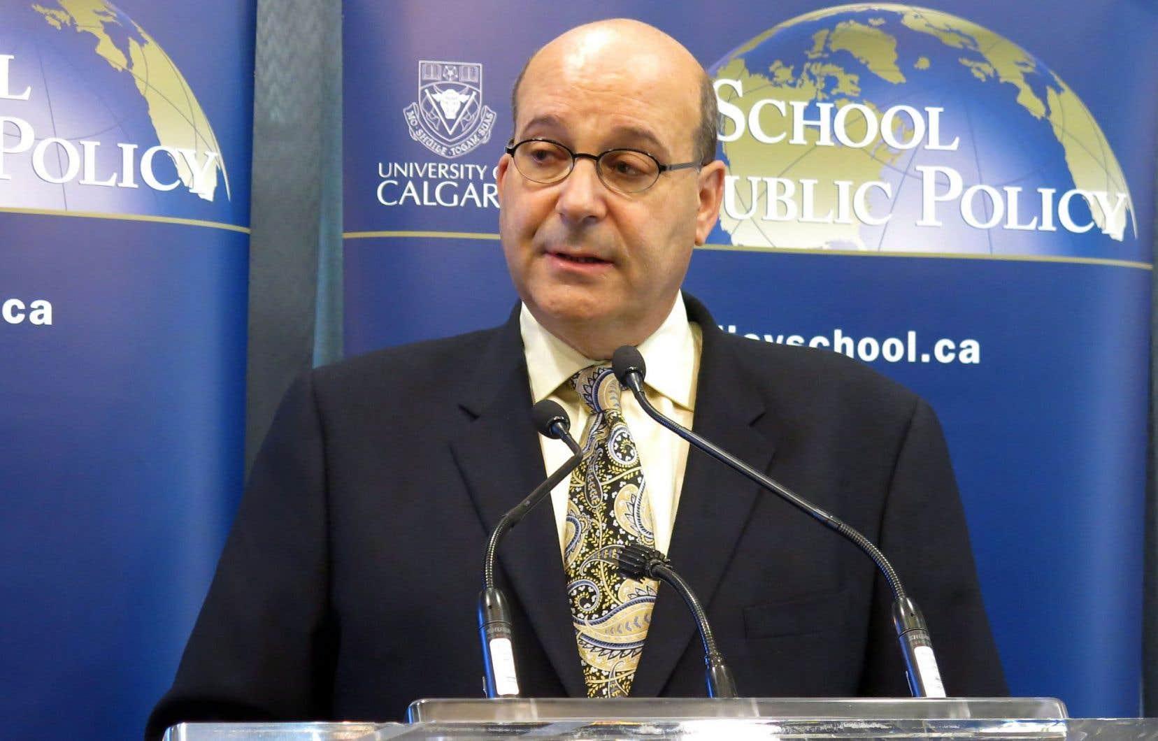 Jack Mintz, l'un des auteurs de l'étude réalisée par l'École de politique publique de l'Université de Calgary.