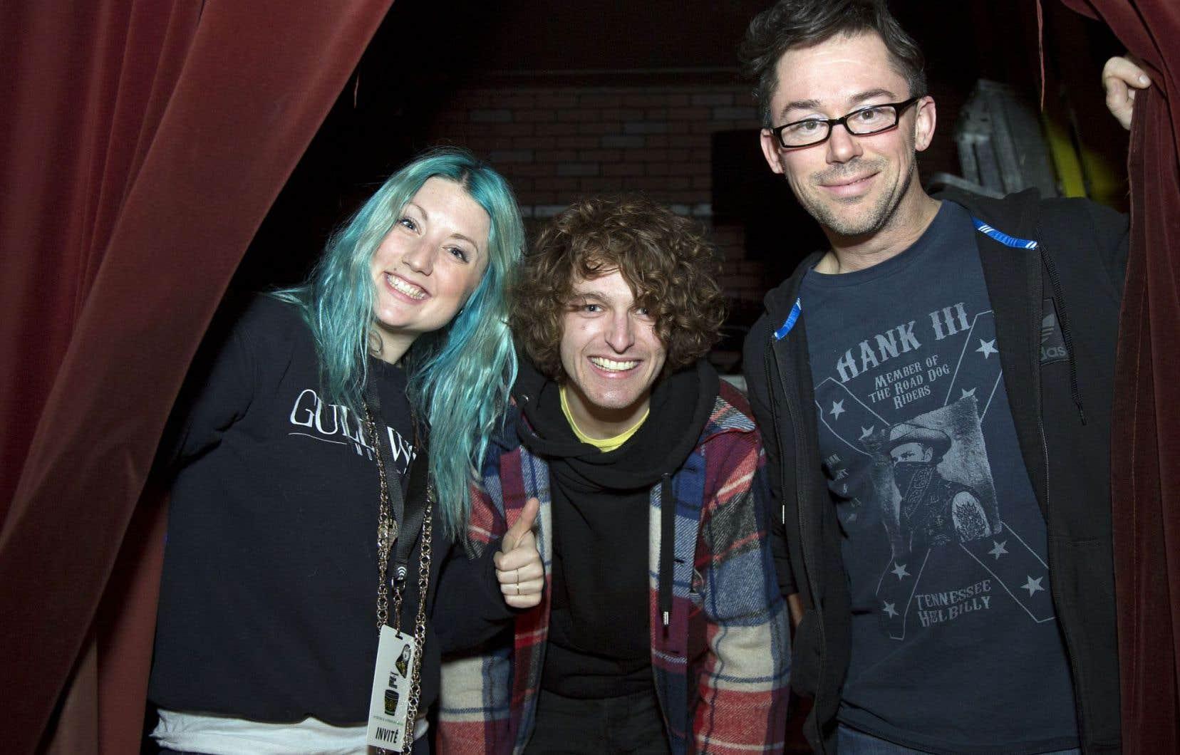 Fanny Bloom, Philippe Brach et Keith Kouna lors du lancement de la programmation des 19es Francouvertes.