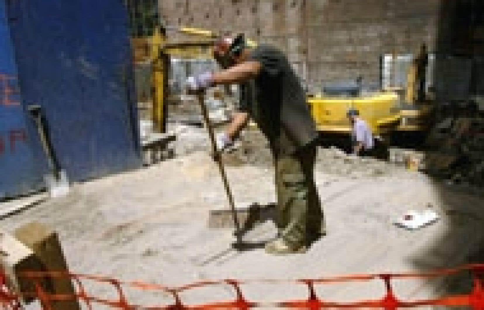 Le Québec a retenu l'essentiel des 19 000 emplois créés dans la construction.