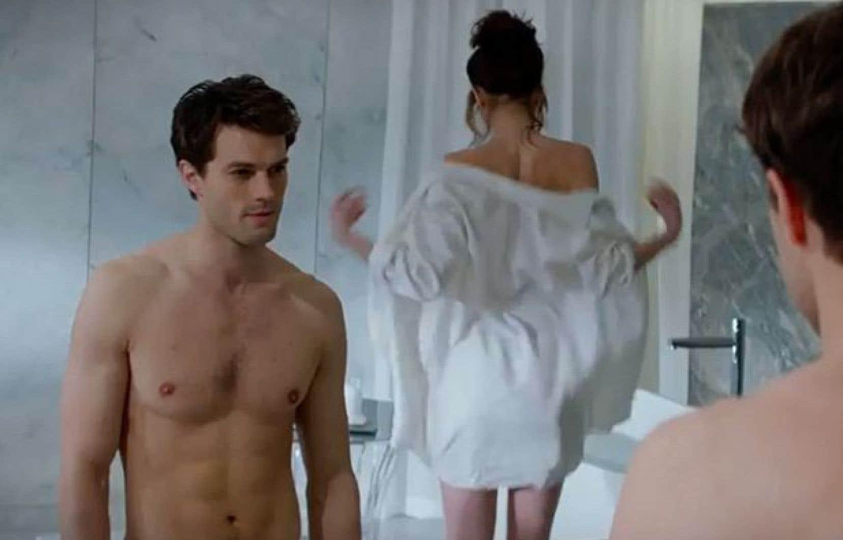 Intimité sur pellicule. Scène tirée du film Fifty Shades of Grey.
