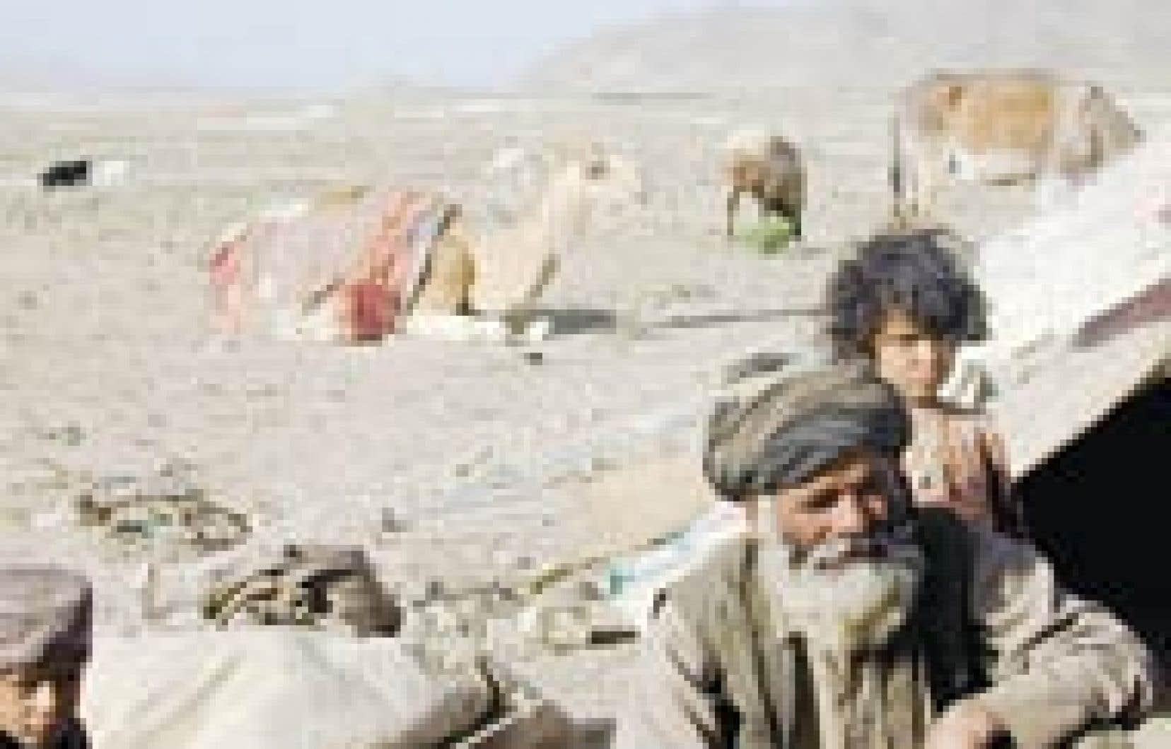 Nomades pachtounes, dans le sud de l'Afghanistan.