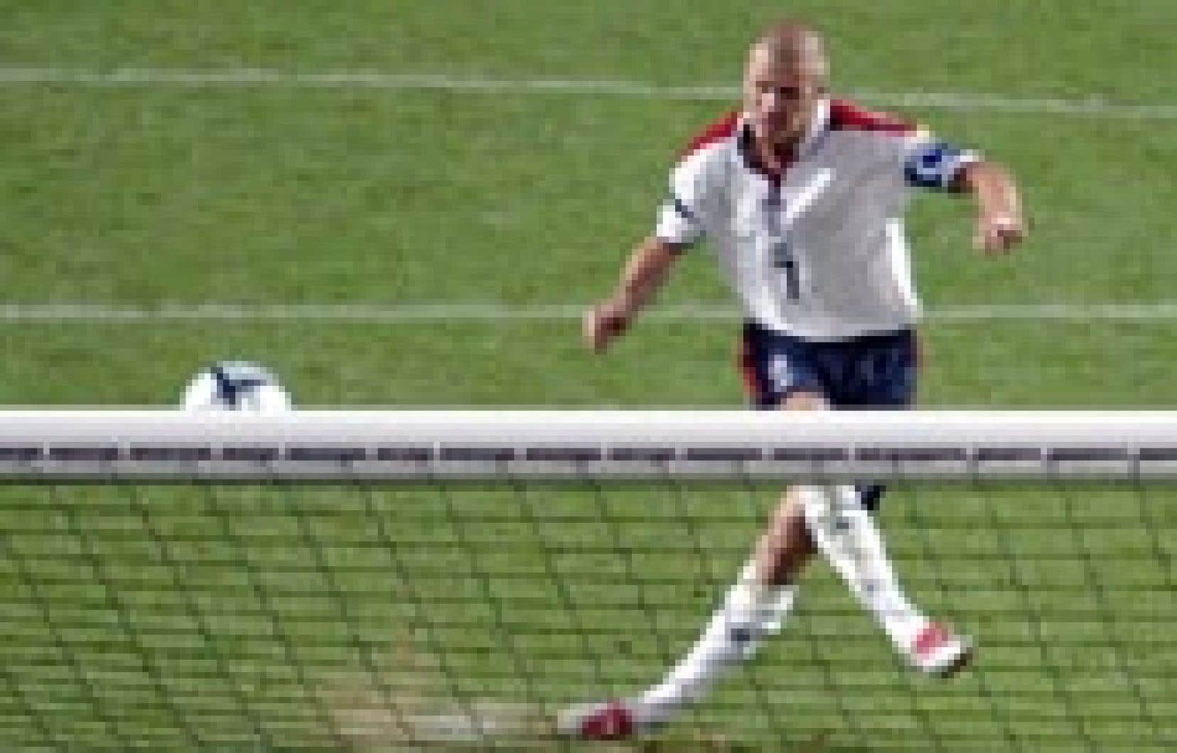David Beckham dans toute sa «splendeur» le 24 juin: un but manqué et beaucoup d'argent.