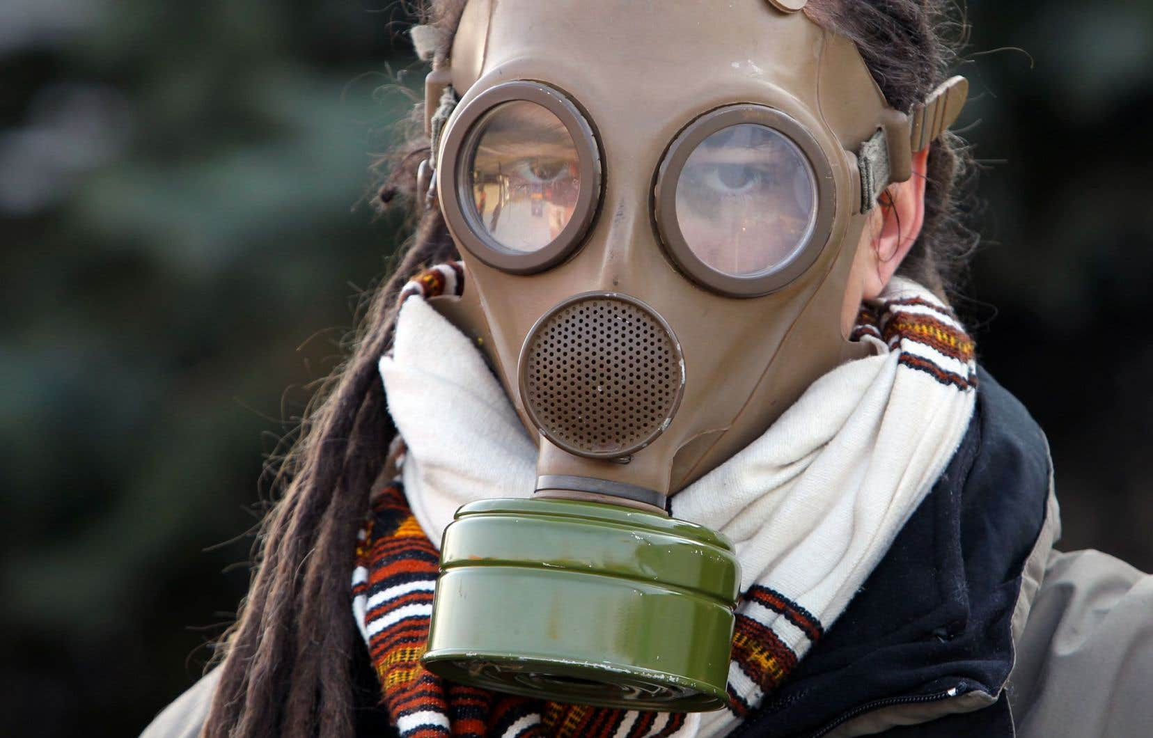 Un manifestant de Greenpeace, en novembre dernier