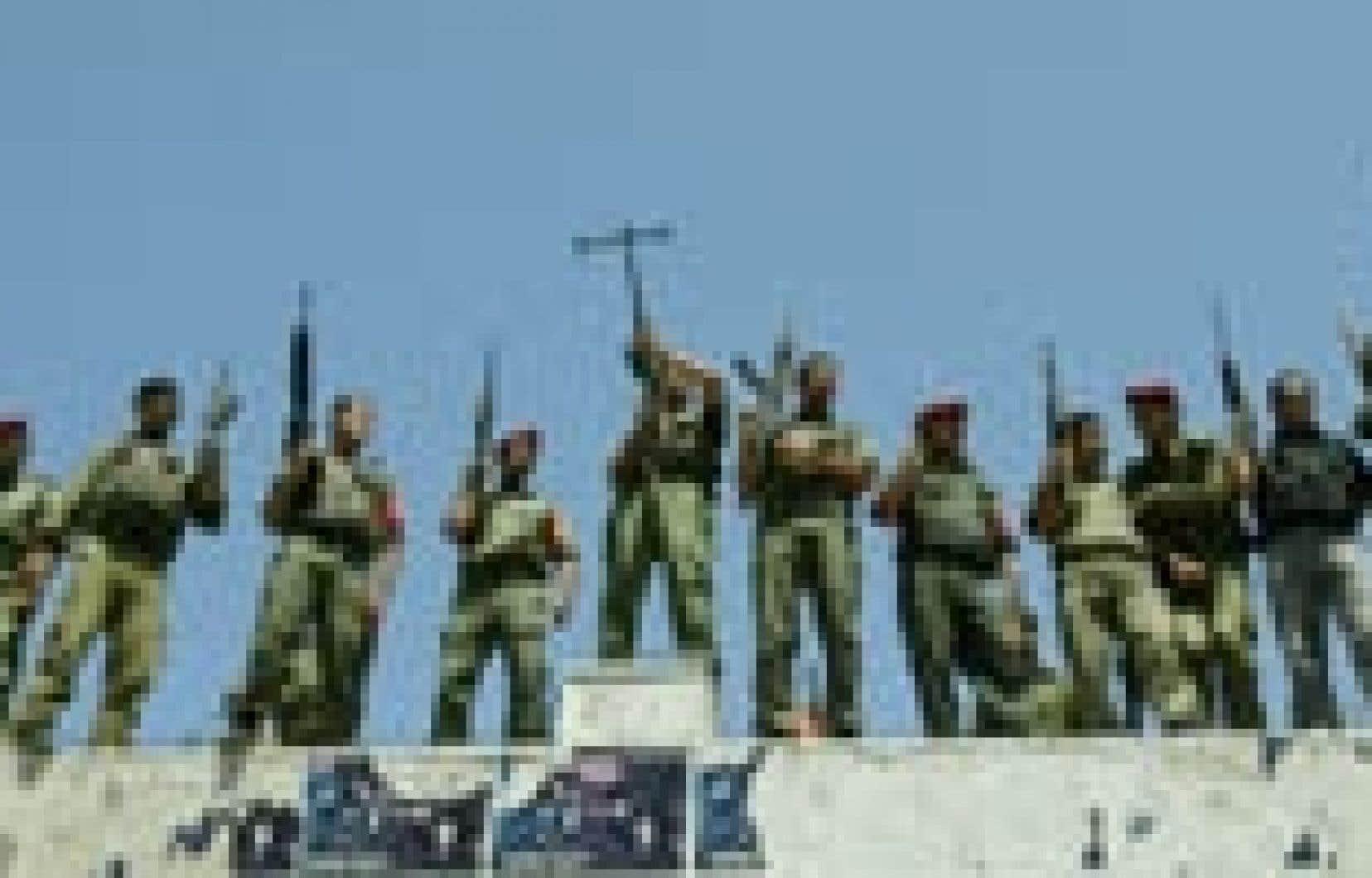Manifestation d'appui à Moussa Arafat, le cousin du président de l'Autorité palestinienne.