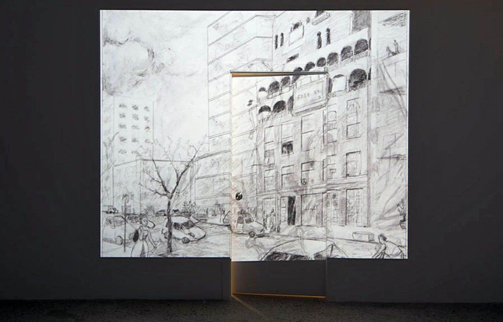 Vue de l'exposition «Palazzo Chupi» (2008-2015) de Michael Blum