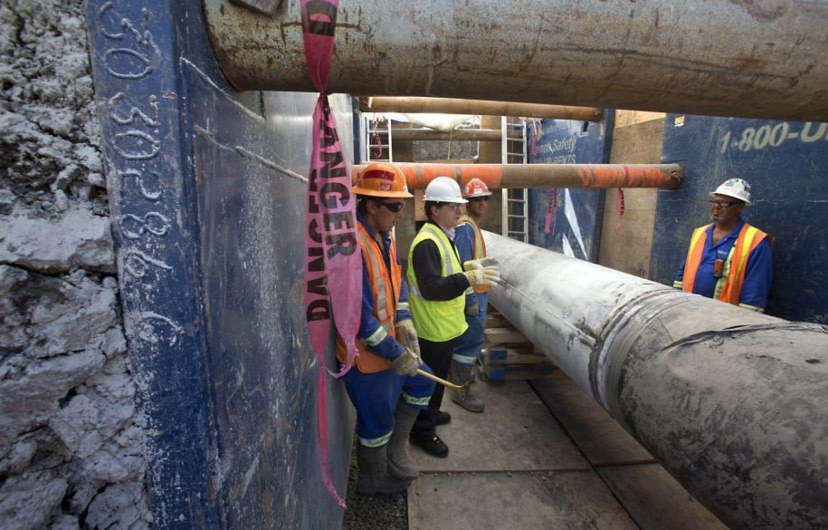 L'équivalent d'environ 70000 barils de brut supplémentaires par jour pourraient être acheminés par le biais de la Ligne 9B.