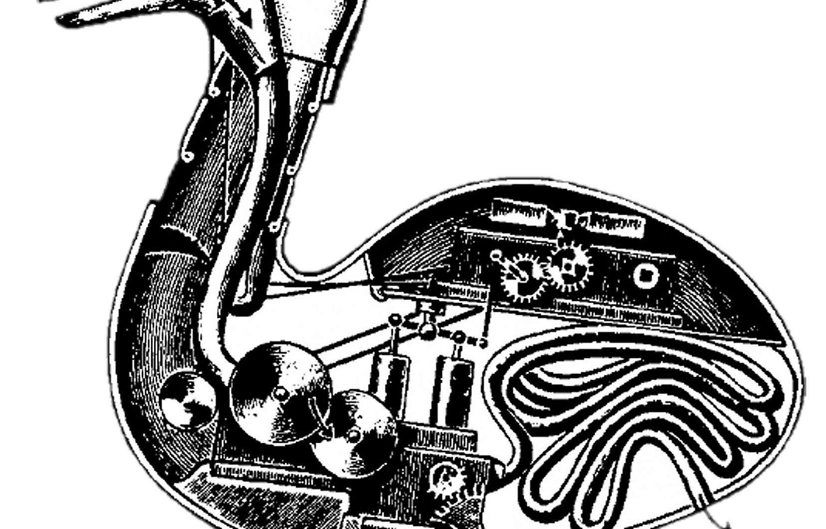 Le canard-machine pensé par Vaucanson en 1738