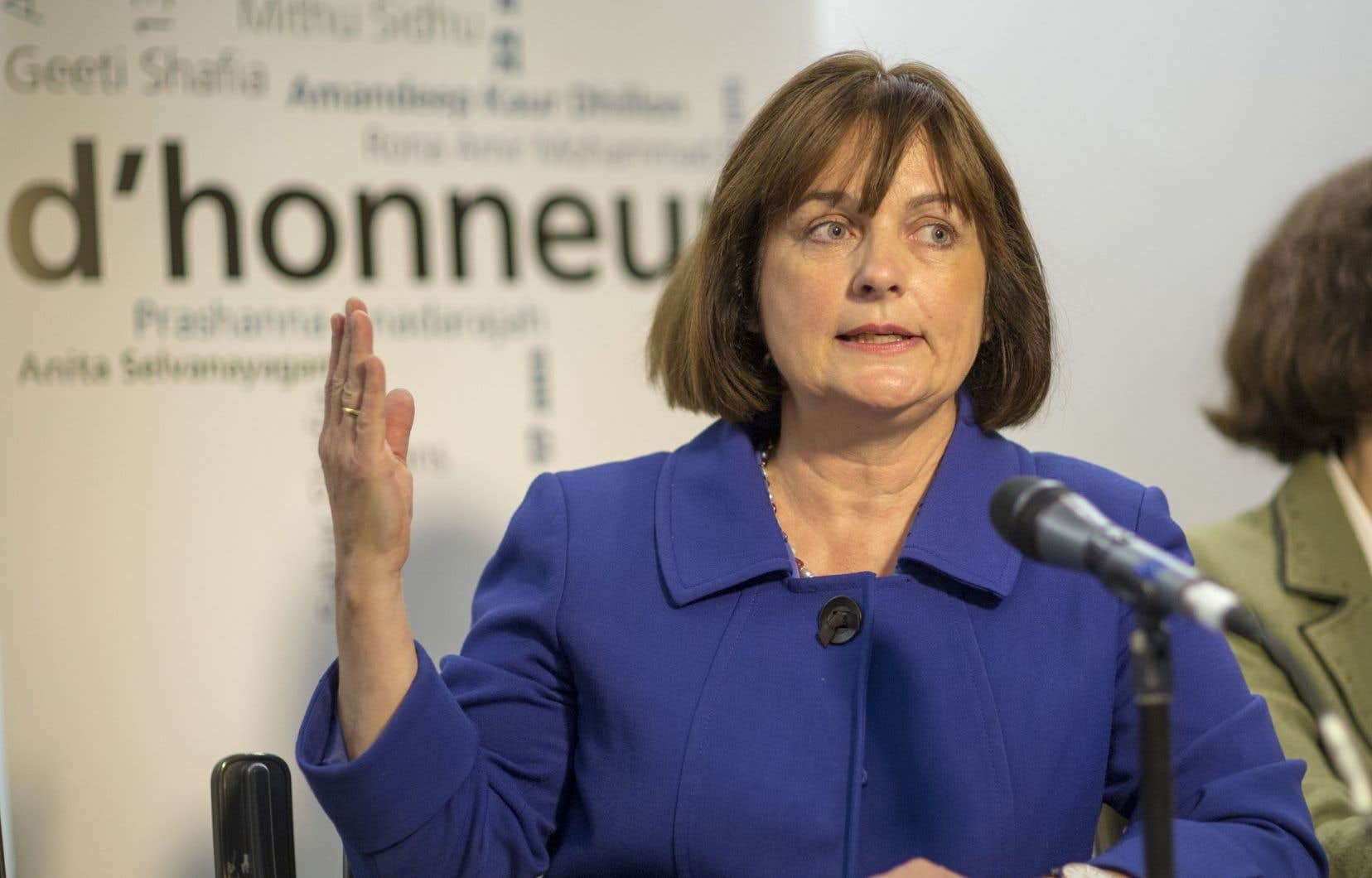 La présidente du Conseil du statut de la femme, Julie Miville-Dechêne<br />
