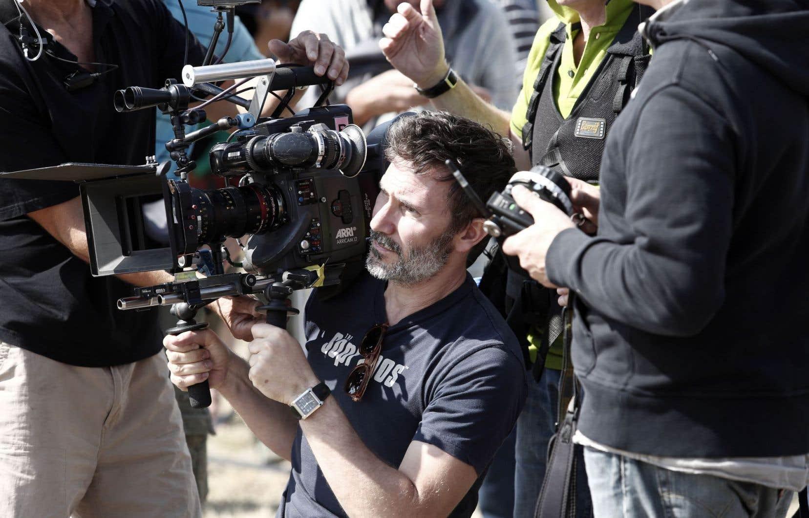 Michel Hazanavicius sur le plateau de son tout dernier film, «The Search», une histoire de guerre avec la Tchétchénie comme cadre.