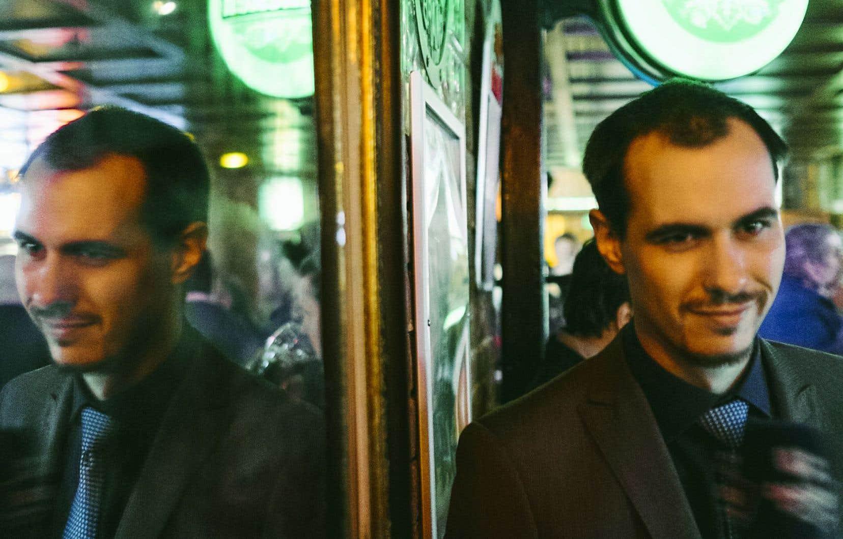 Jean-François Morasse lors du cocktail de financement, en février dernier, destiné à amasser des fonds pour qu'il puisse porter sa cause contre Gabriel Nadeau-Dubois en Cour suprême.