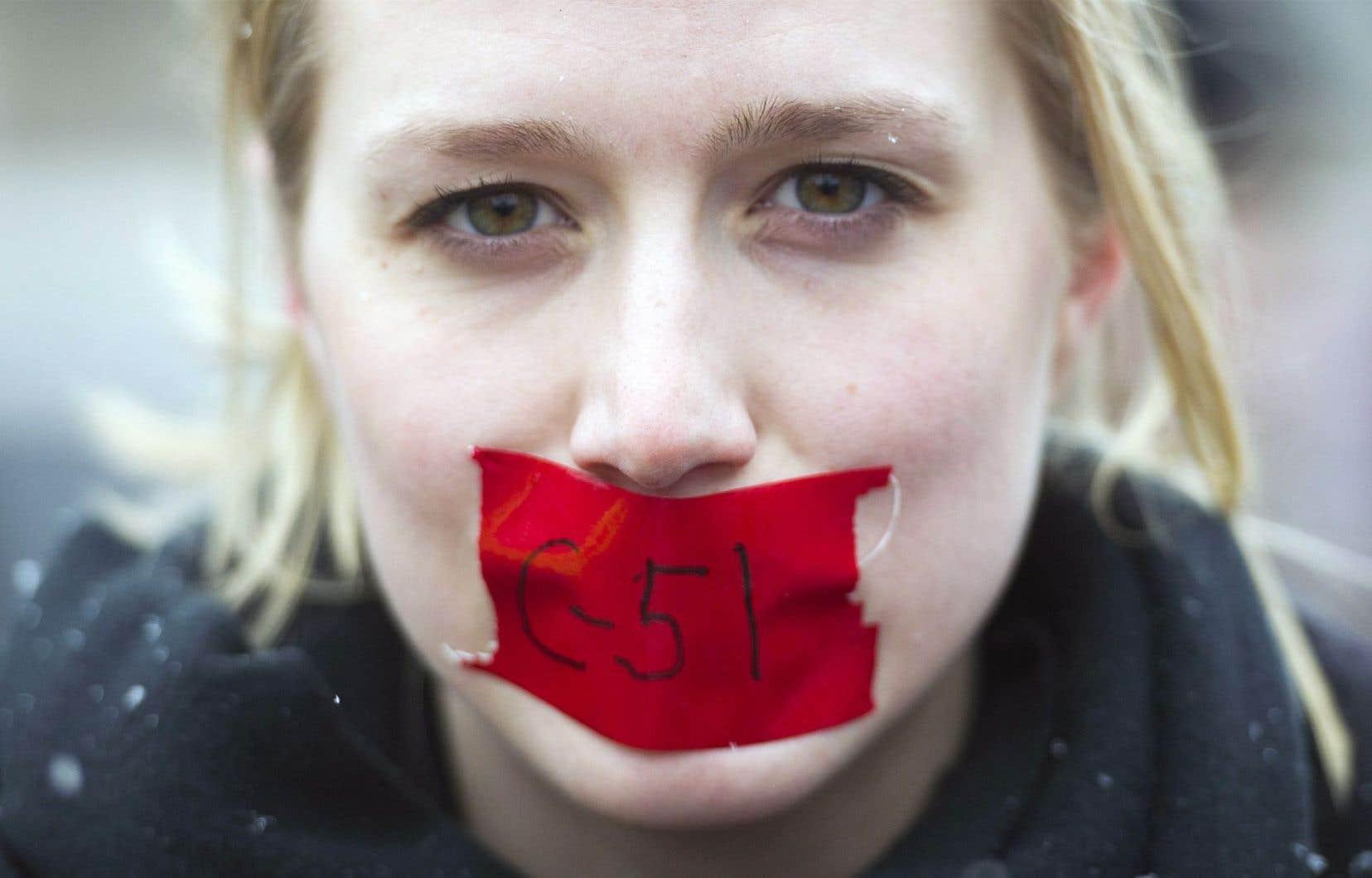 Le regroupement d'avocats craint une chasse au discours politique.<br />