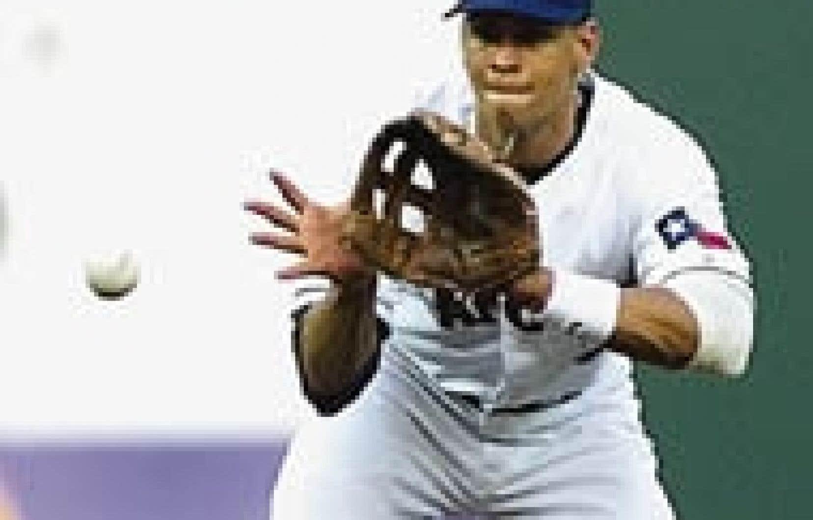 Alex Rodriguez lorsqu'il jouait pour les Rangers du Texas.