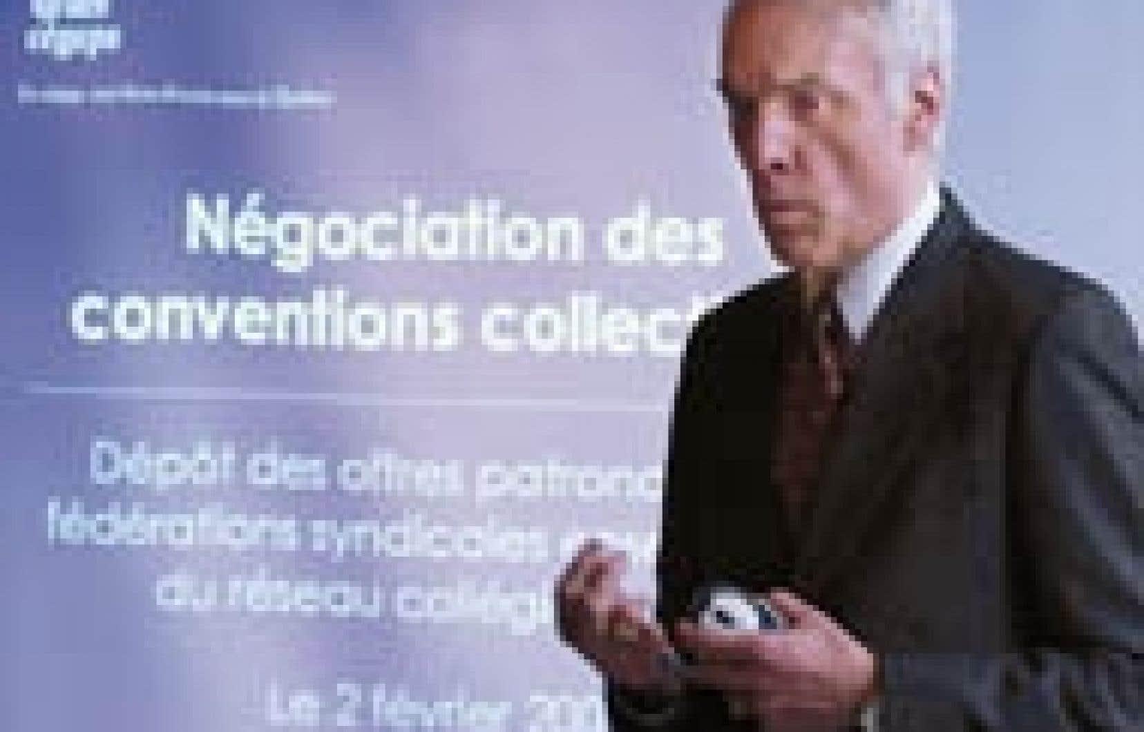 Gaëtan Boucher, président de la Fédération des cégeps, a donné le ton aux négociations qui s'amorcent en réclamant des conventions collectives plus souples.