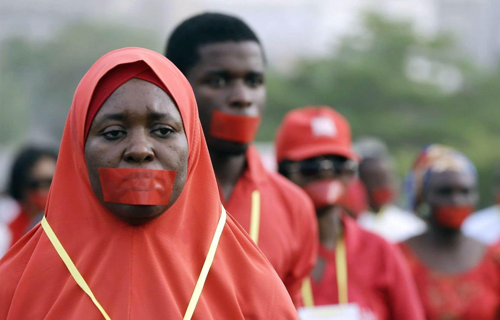 Une marche silencieuse a eu lieu mardi à Abuja.