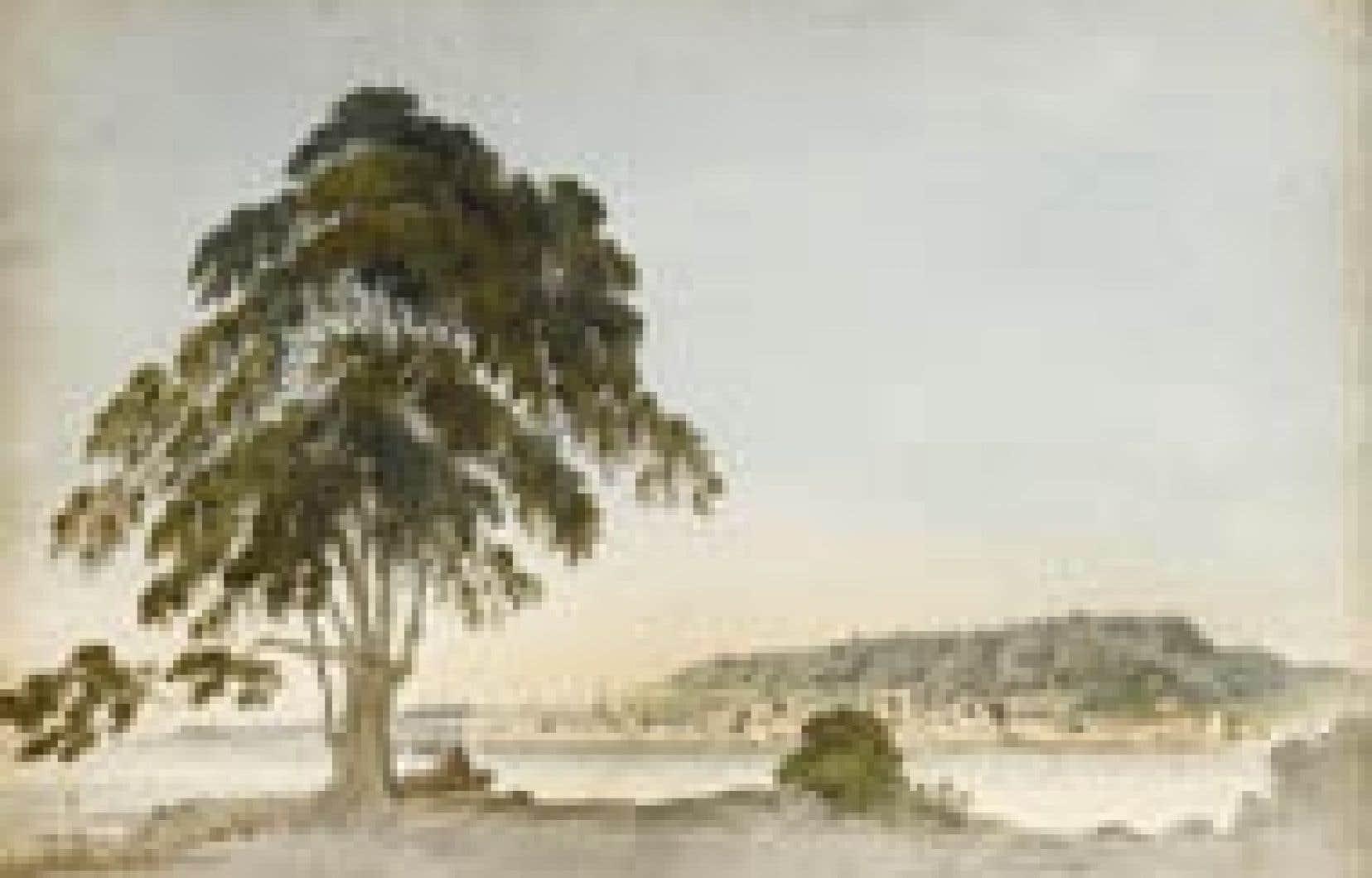 Une petite aquarelle (38,1 X 55,7 cm) de Benjamin Fisher, Montreal viewed from St Helens Island, découverte récemment dans une cave de l'université Oxford. La garnison britannique campait sur l'île Sainte-Hélène quand le soldat artiste a réali