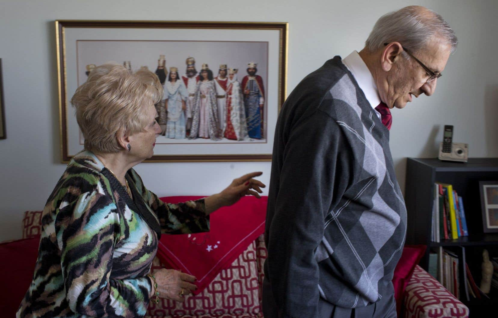 Jean Meguerditchian en compagnie de sa femme, Ardémis