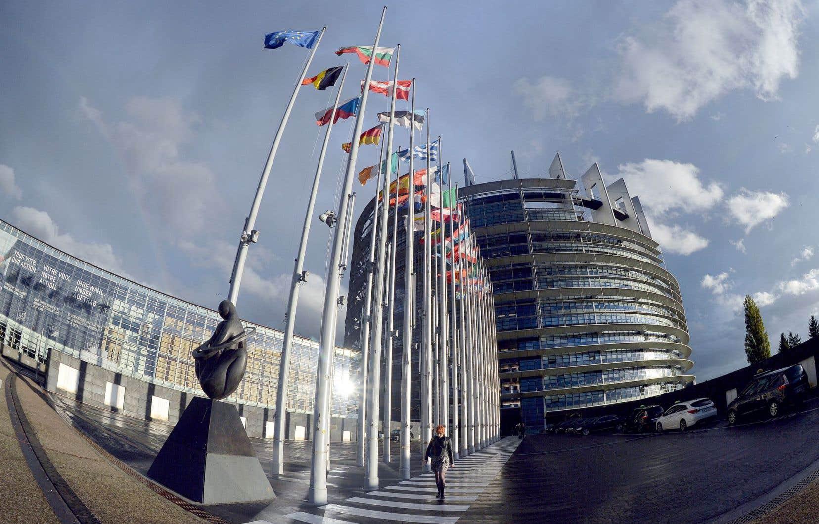 Le parlement européen à Strasbourg. L'accord de libre-échange que le Canada a négocié avec l'Union européenne continue de créer des remous outre-Atlantique, de nombreux députés européens jugeant sévèrement les tribunaux ad hoc chargés d'arbitrer les différends commerciaux.