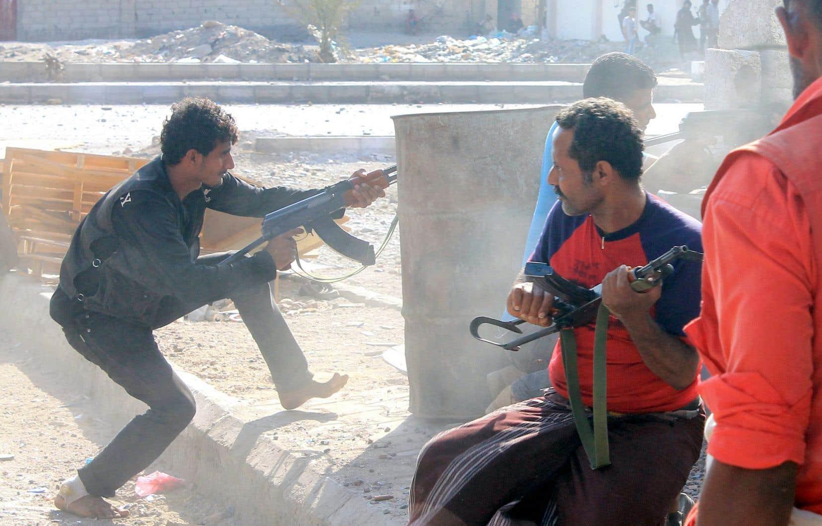 Des combats ont eu lieu mercredi à Aden.