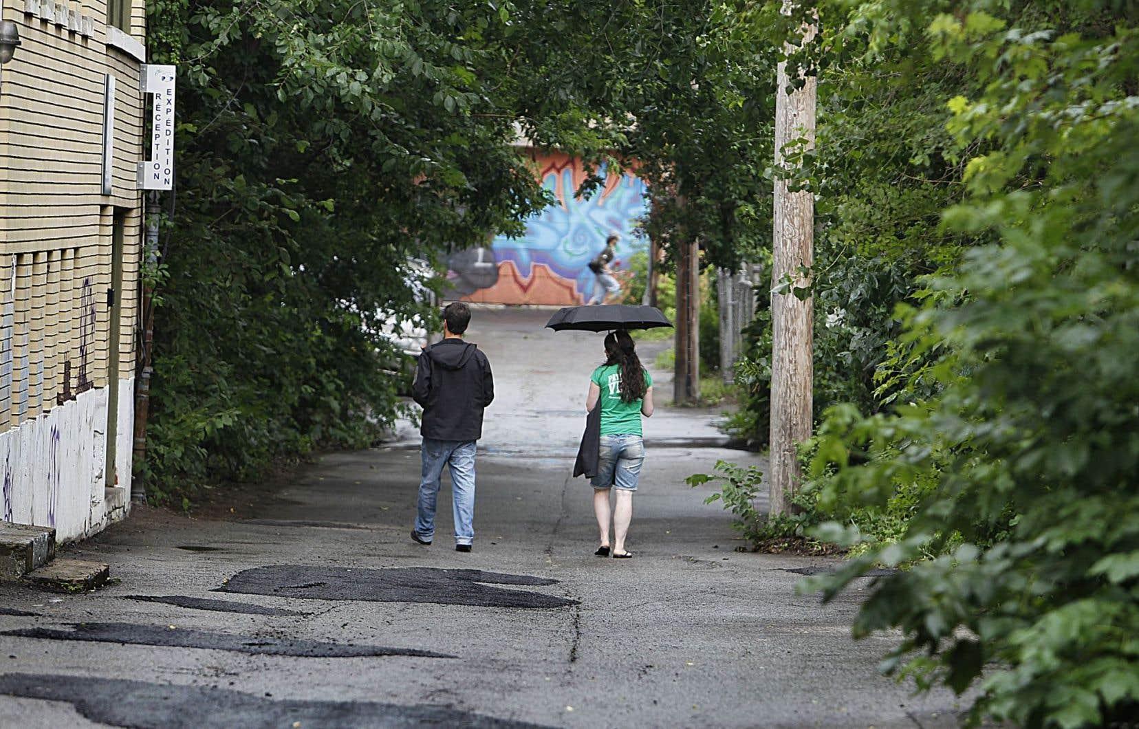 Une ruelle verte dans Montréal