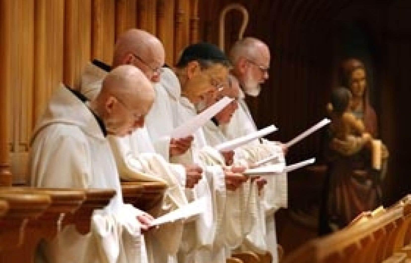 Les moines trappistes d'Oka, dont le monastère vient d'être transféré à Saint-Jean-de-Matha.