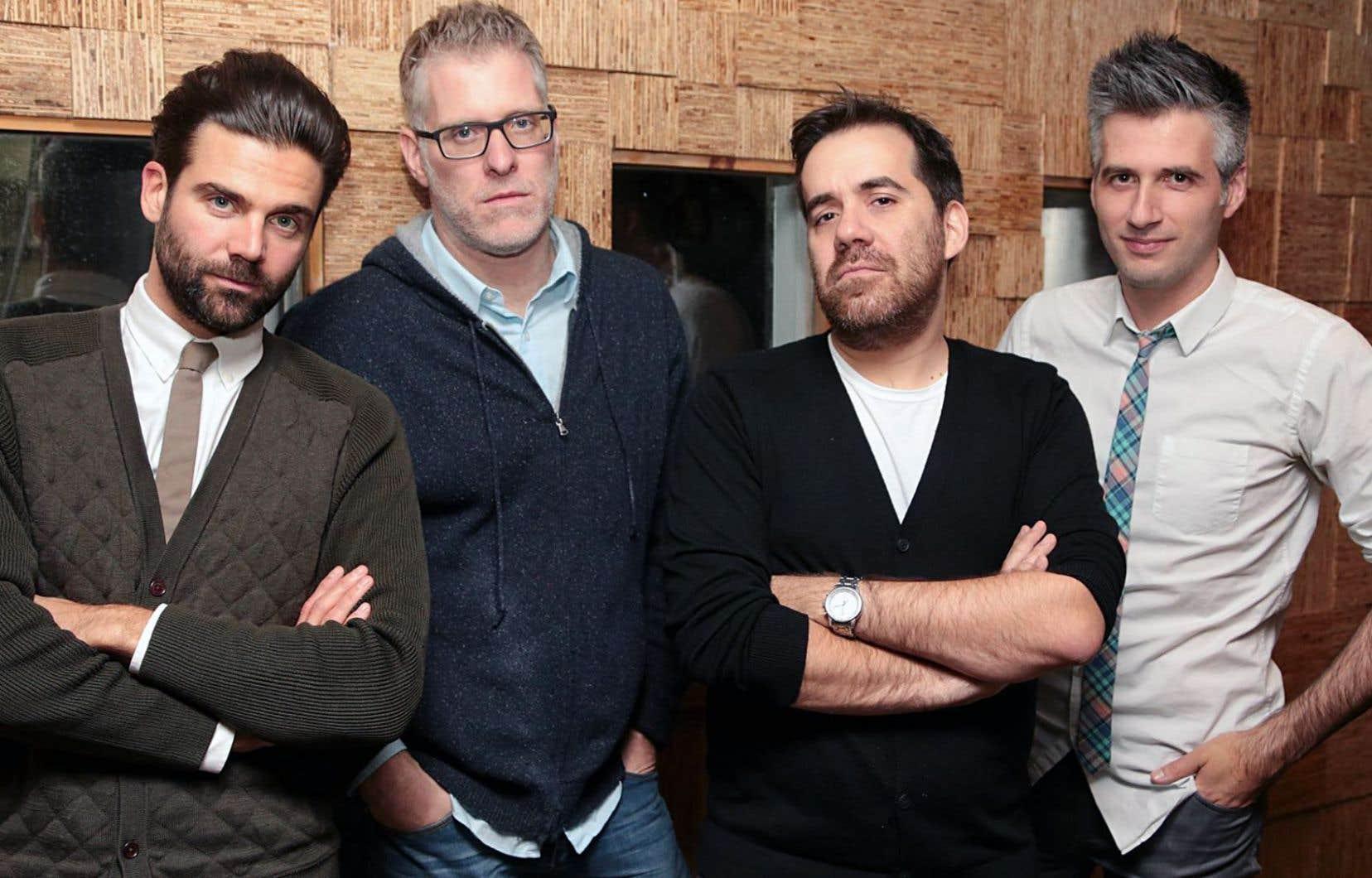 Jean-Philippe Wauthier, Fred Savard, Jean-Sébastien Girard et Olivier Niquet