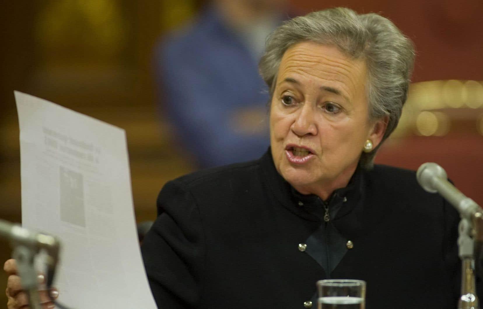 Lise Thibault avait reconnu sa culpabilité aux accusations de fraude et d'abus de confiance à l'encontre du gouvernement en décembre dernier.