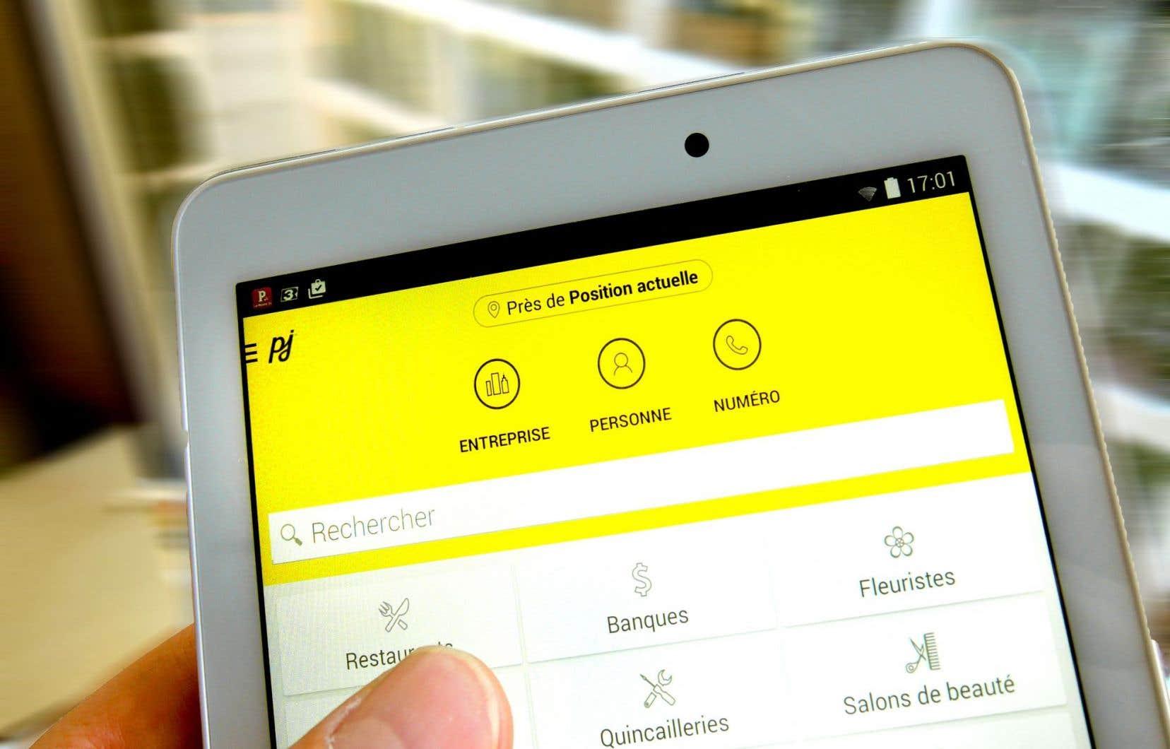 L'entreprise Pages Jaunes a amorcé sa transition vers le secteur numérique.